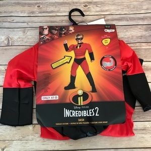 NWT Incredibles 2 Dash Costume Small 2T.
